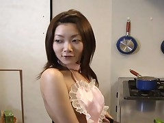 Miku Masaki abused with dildo in her wet slit sweet perky tits bouncing