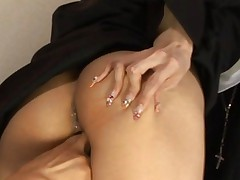 Rika Sakurai Kinky Asian babe gets her anus and her pussy fingered and fucked