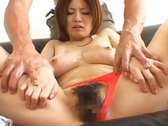 Mao Pretty Asian model gets her hairy pussy fucked by her boyfriend