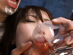Nozomi Mitani forced to swallow before left naked on concrete