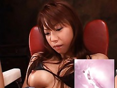 Riri Asian has cunt screwed with sex toy and examined during this
