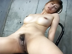 Moe Aizawa Asian doll in a cellar with her guys gets a hand penetration