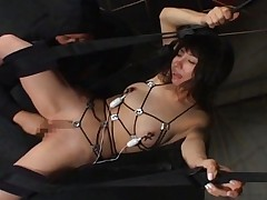 Yuka Osawa Hot Asian chick is tied and sucks her boyfriend's cock
