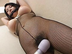 Chihiro Asou is tied up as she wears her bodystocking
