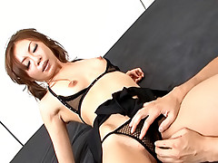 Mio Hiiragi Asian call girl gets a hard pussy pounding fuck by her boyfriend
