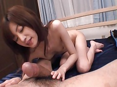 Kanon Hanai Lovely Asian model shows off hairy pussy and gets fucked
