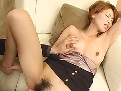 Koharu has her tits fondled as her boyfriend fingers her pussy