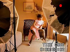 Riona Sakamaki is recorded sucking cock after a photo session