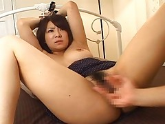 Minori Hatsune Asian doll is tied to the bed and sucking cock on her date