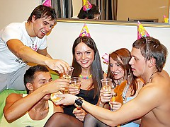 Sexy B-day games turned to student orgy moie