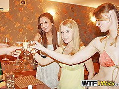 Student group sex party with drunk girls