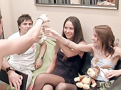 Student party sex video with awesome college fuck girls