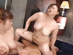Miku Shiraishi Chubby Lesbo sluts with big tits have a little cock to play with