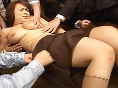 Reiko Nakamori Hony Asian gal has gangbang with a lot of guys