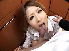 Hibiki Ohtsuki hot Japanese tramp gets a gangbang good time from her classmates