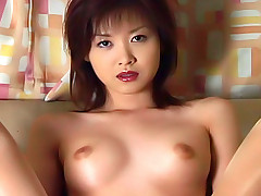 Japanese slut gets her beads and dildo in her anus  close up