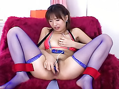 Haruka and Hitomi  fucked with a dildo while on a camping trip