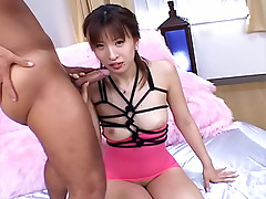 Haruka and Hitomi Asian cum slut enjoys sucking cock when she is dating