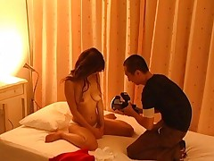 Ai Kurosawa Posing for nude pictures in her bedroom with camera