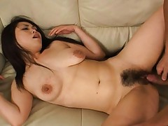 Hitomi Ohishi double penetration with two horny men in this video