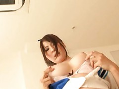 Momoka Nishina teen with big tits gets a pussy pounding from date