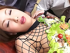 Saku Momona hot Japanese whore sucks cocks and gets a hot cum facial