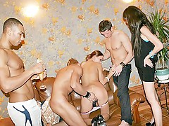 College fuck orgy with coed passionate chicks