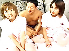 Kikurin two Asian teens are horny and play with each other and a cock