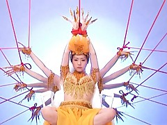 Tsubomi Asian dancing has pussy aroused with instruments