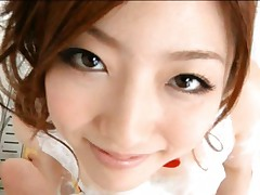 Ai Haneda pretty Asian doll poses in the bath all soaped up
