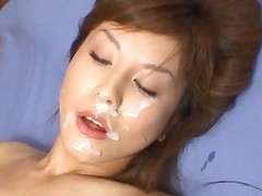 Hime Kamiya bukkake video with a huge load of sperm