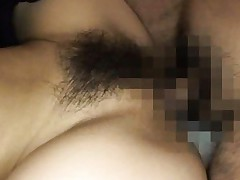 Risa Tsukino Asian with firm boobs and hairy cunt is drilled