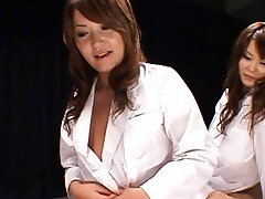 Japanese AV Models are pretty Asian dolls showing off their tits