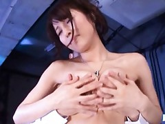 Alice Miyuki Asian has toes sucked and hot boobies caressed
