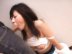 Japanese AV Model is pumped by strong boner in mouth on and on