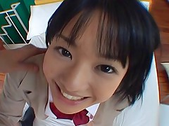 Sora Aoi Japanese schoolgirl is staying after school to ride on her guy's cock