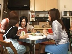 Riko Tachibana Asian and other housewives learning to suck cock