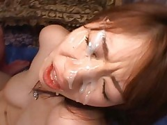 Nami Kimura loves bukkake cum shots and being covered in sperm