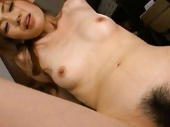 Kaori Maeda Asian touches her titties while is fucked in vagina