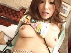 Marika Asian is grabbed by hands while she gets dong from behind