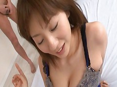 Yuma Asami Asian sucking lots of penises one after the other