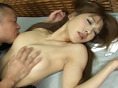 Ai Kurosawa loves the feel of a man's tongue on her clit