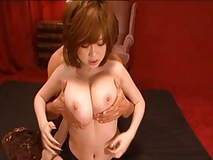 Rio Hamasaki takes off her shirt and expose her big boobs