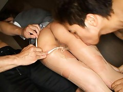 Sena Aragaki Asian has pussy spread and nylon stockings broken