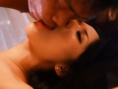 Sora Aoi Asian kisses dude and gives blowjob to his strong tool
