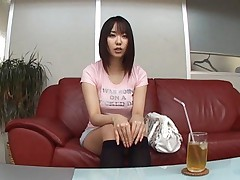 Mona Asamiya Asian has her huge chest in pink t-shirt and strokes