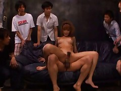 Kirara Asuka Asian gets many hands on boobs while is screwed