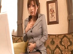 Rio Hamasaki Asian undressing and playing with boobs on webcam