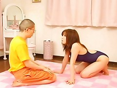 Rio Hamasaki uses her hands to make his flaccid cock rock hard