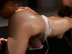 Ameri Ichinose Asian with oil on curves sucks and strokes tools